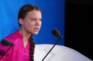 16-year-old Swedish Climate activist Greta Thunberg speaks at the 2019 United Nations Climate Action Summit at U.N. headquarters in New York City, New York, U.S.